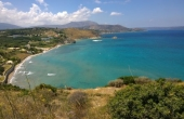 360, Land next to the sea, scenic views, olive trees